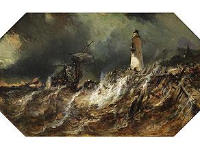 Detail images:  Louis Gabriel Eugène Isabey, 1803 Paris - 1886 Lagney