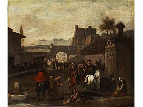Detail images:  Pieter Wouwerman, 1623 Haarlem - 1682 Amsterdam, zug.