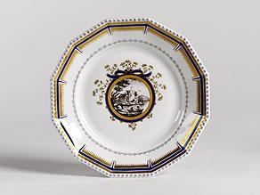 Detailabbildung: Serviceteil nach dem Service, das für König Ludwig III. und Königin Marie-Therese 1916 entstanden ist