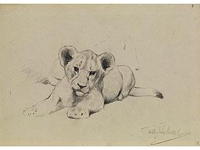 Detail images:  Wilhelm Friedrich Kuhnert, 1865 Oppeln - 1926 Flims