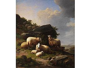 Detail images:  Eugène Verboeckhoven, 1799 Warneton – 1881 Brüssel