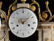 Detail images: Große Louis XVI-Portaluhr