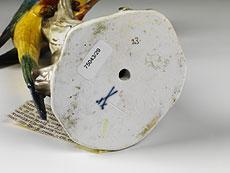 Detail images: Meissener Porzellanfigur eines Sittich