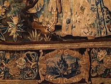 Detail images: Feiner Gobelin mit Darstellung von Angelique und Medor