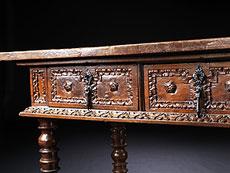 Detail images: Musealer Bibliotheks- oder Refektoriumstisch