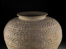 Detailabbildung: Große chinesische Terrakotta-Vase
