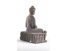Detail images: Sitzende Buddhafigur in Stein