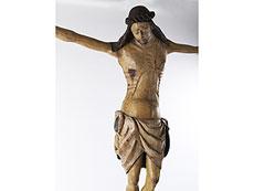 Detail images: Seltener musealer, frühgotischer Corpus Christi