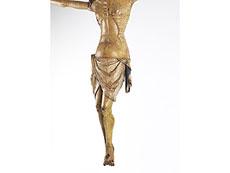 Detailabbildung: Seltener musealer, frühgotischer Corpus Christi