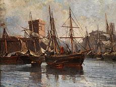 Detail images: Emile-Raphael Marechal, Holländischer Marinemaler des 19. Jahrhunderts