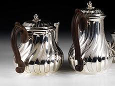 Detail images: Silbernes Kaffee- und Teeset