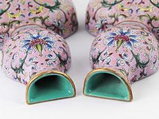 Detail images: Paar chinesische Wandhängevasen