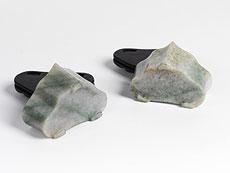 Detail images: Paar Jadeschalen