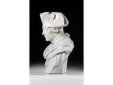 Detail images: Lebensgroße Porzellanbüste Friedrichs des Großen