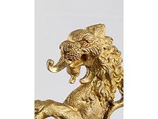 Detailabbildung: Bronzefigur eines steigenden Löwen