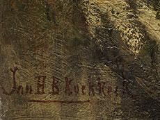 Detail images: Johannes Hermanus Barend Koekkoek, 1840 Amsterdam - 1912 Hilversum