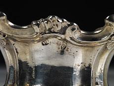 Detail images: Paar silberne Gewürzschalen