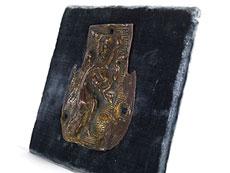 Detail images: Frühgotische Applikation mit Darstellung des Evangelisten Matthäus