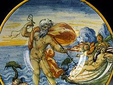 Detail images: Italienischer Majolika-Teller