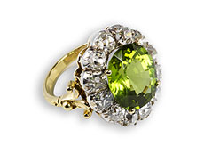 Peridot-Brillant-Ring