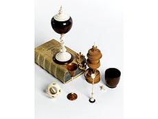 Detail images: Konvolut von Kunstkammerobjekten aus Holz und Elfenbein