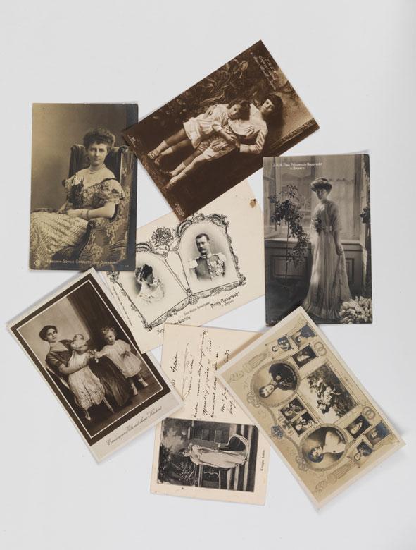 Konvolut von sieben alten Postkarten