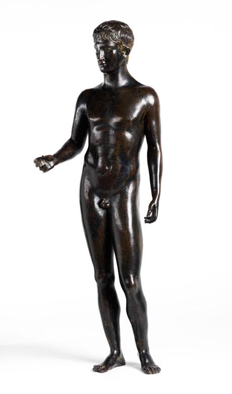 Bronzefigur eines antiken Epheben (Idolino)