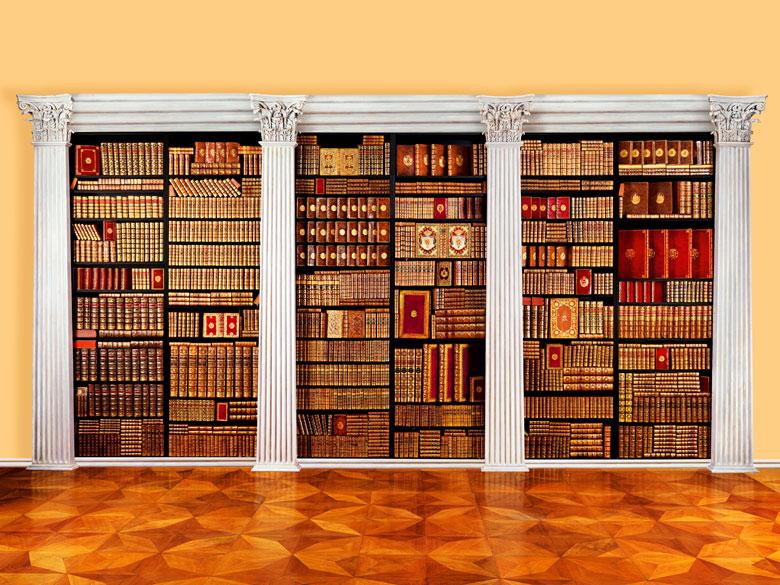 † Bibliothek No. 1 Eine große Bibliothek mit 1130 Büchern des 18. Jahrhunderts, Louis XIV und Louis XV.