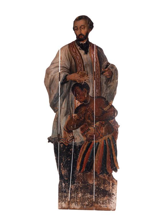 Lebensgrosse Darstellung des Jesuiten-Heiligen Franz Xaver