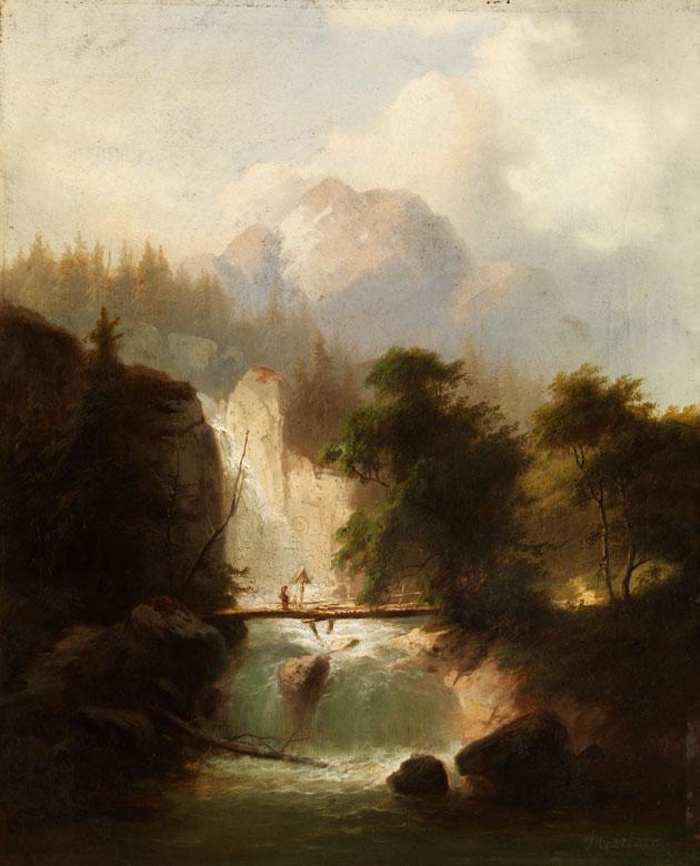 Heinrich Gärtner, 1828 Neustrelitz - 1909 Dresden, Schüler von Schirmer