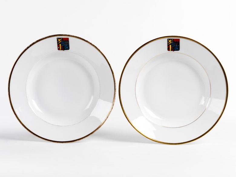 Paar Teller aus dem Besitz von Kronprinz Ruprecht von Bayern