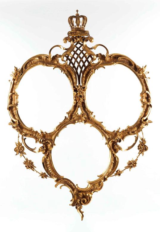Bilderrahmen als Hochzeitsgeschenk des Bruders der Braut Louise von Bourbon-Orleáns, Herzog Emanuel von Vendome