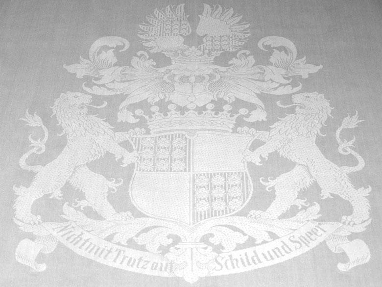 Großes Wappentafeltuch der Freiherren von Oldershausen