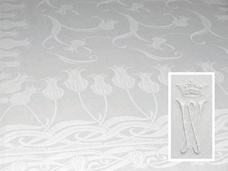 Banketttafeltuch mit prachtvollem Jugendstil-Tulpenmuster