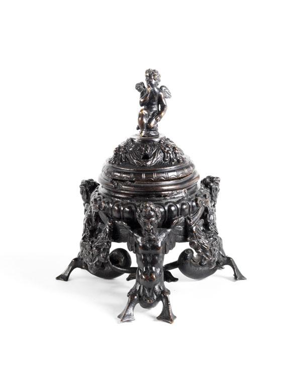 Venezianisches Tintenfass in Bronze