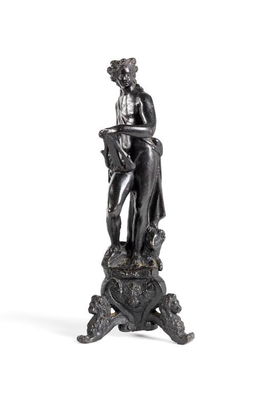 Italienische Renaissance-Bronzefigur des Musengottes Apollo