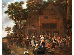 Detail images:  Jan Miense Molenaer, 1610 Haarlem - 1668 Haarlem, zug.