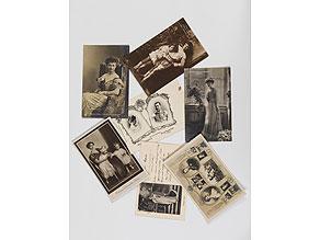 Detail images:  Konvolut von sieben alten Postkarten