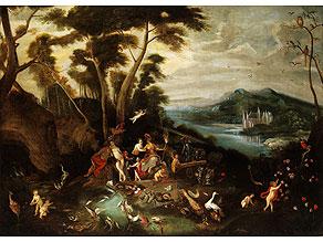 Detail images:  Maler des 17. Jahrhunderts, in der Nachfolge von Jan van Kessel