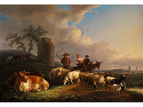Detail images:  Jean-Baptiste de Roy, 1759 Brüssel - 1839, Maler im Kreis von Verboeckhoven