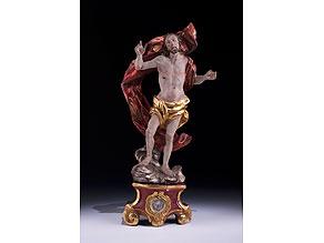 Detail images:  Schnitzfigur eines Auferstehungschristus
