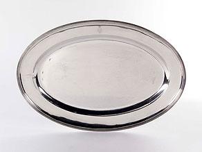Detail images:  Russische Servierplatte in Silber