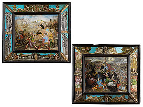 Detail images:  Paar bedeutende Hinterglasbilder des 17. Jahrhunderts