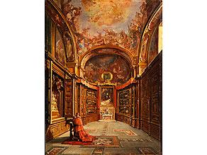 Frans Vervloet,  1795 Mecheln - 1872 Napoli,  Veduten- und Interieurmaler, schuf zahlreiche Kircheninterieurs