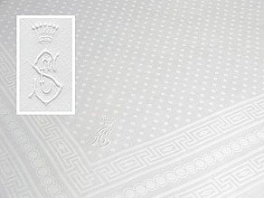 Detailabbildung:  Elegantes Tafeltuch aus freiherrlichem Besitz