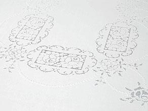 Detail images:  Teetafeltuch mit reichhaltiger Handarbeit