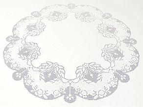 Detail images:  Rundes Tischtuch mit sehr feiner A-Jour-Handarbeit