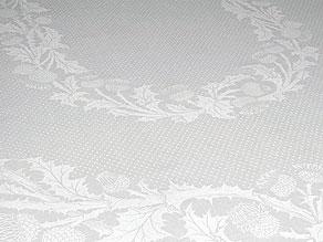 Detail images:  Großes Tafeltuch mit Distelmuster
