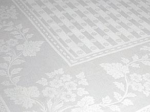 Detail images:  Handgewebtes Tafeltuch mit Blütenstreifen