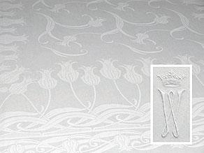 Detail images:  Banketttafeltuch mit prachtvollem Jugendstil-Tulpenmuster